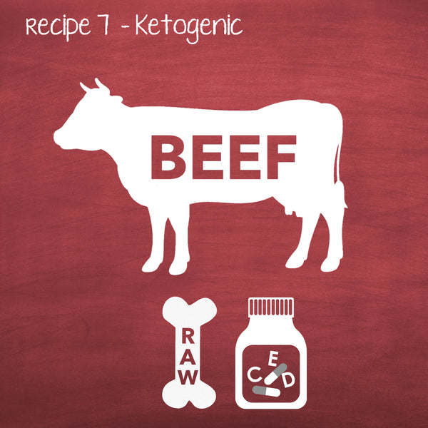 PP7 Raw Keto Beef Recipe for Adult Dogs