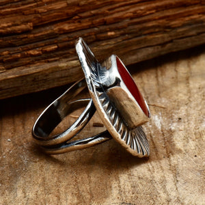 Chiseled Rosarita Ring