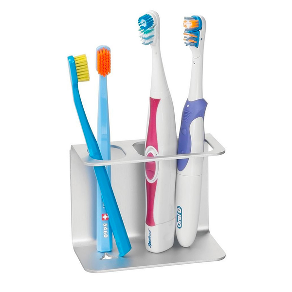 AFFIXX Metro Aluminum Toothbrush Center-Silver