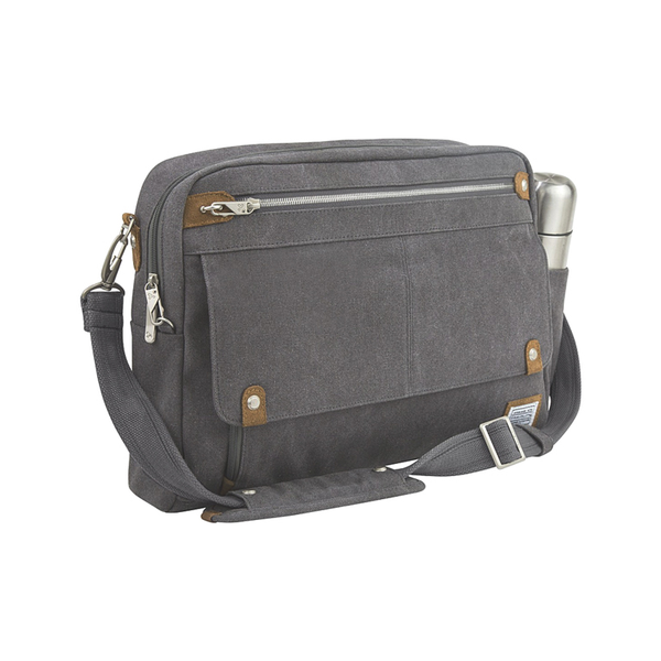 Anti-Theft Heritage Messenger Bag, Pewter