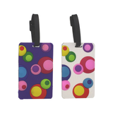 Set of 2 Luggage Tags, Inner Circles, Asst