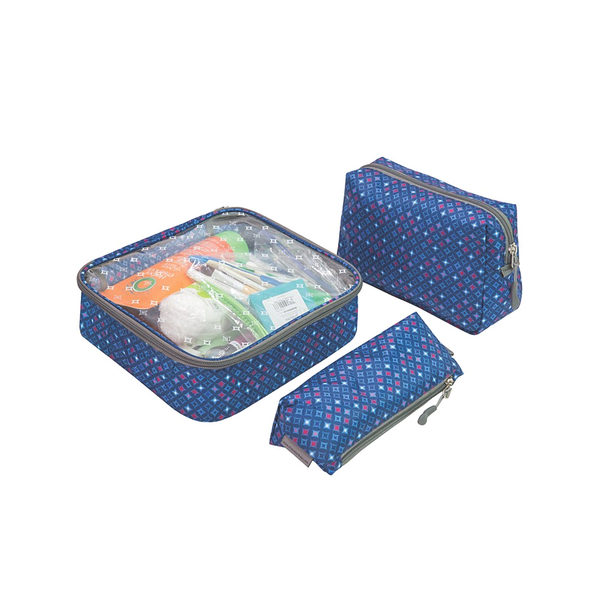 3pc Toiletry Packing Set, Diamond