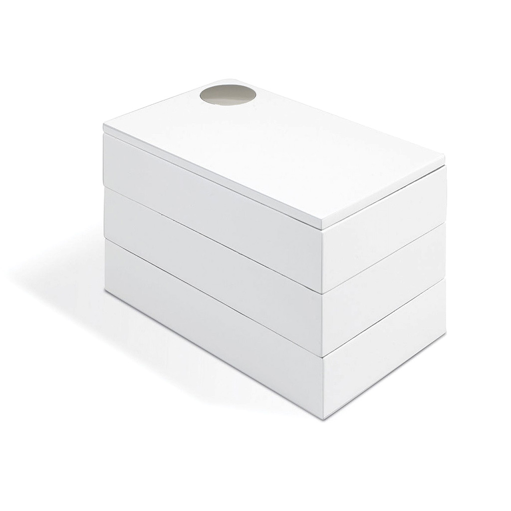 Spindle Storage Box, White