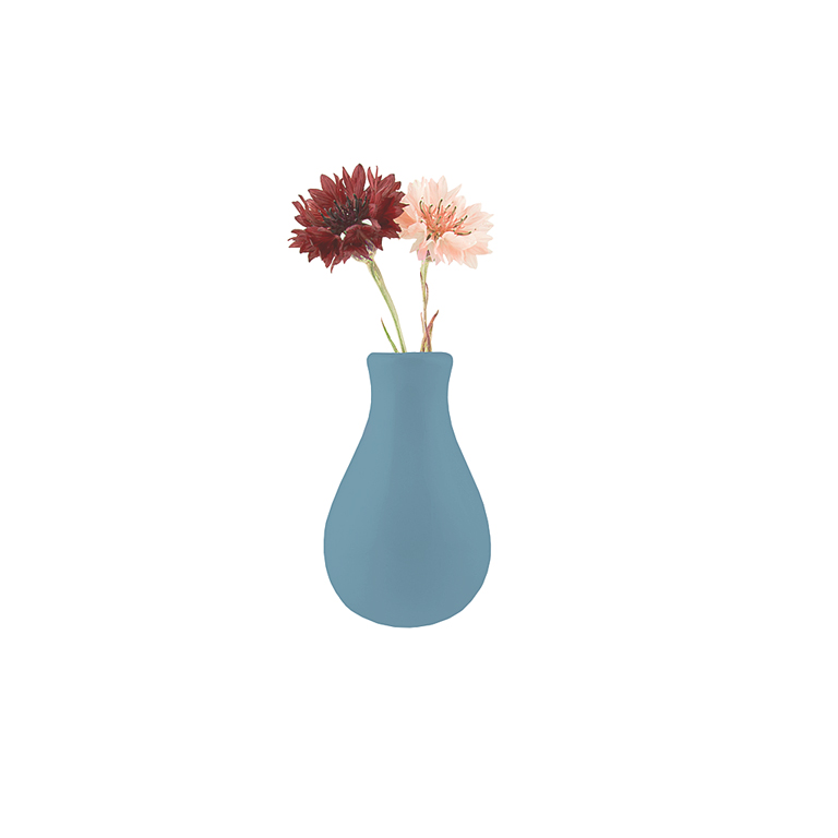 Magnetic Ceramic Vase, Blue