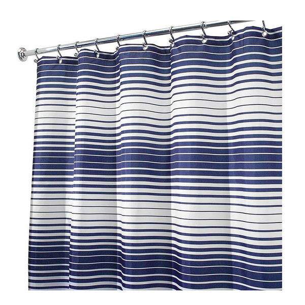 Enzo Shower Curtain, Navy/White