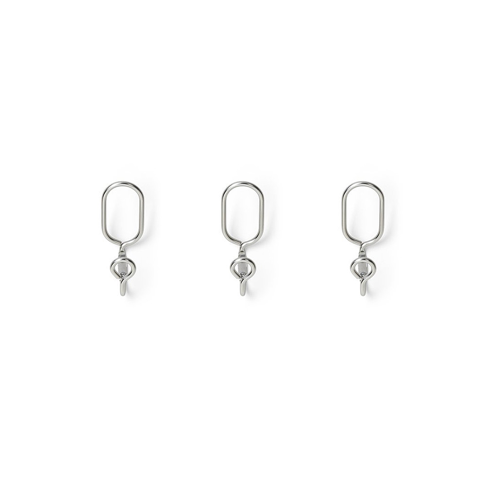 Aura Set of Three Metal Hooks