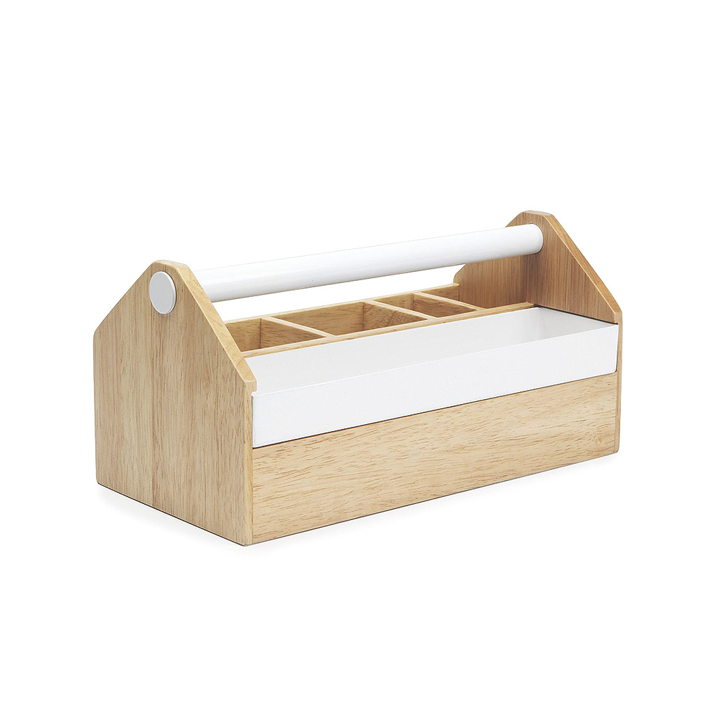 Toto Medium Box, White/Natural – Type A Home Solutions