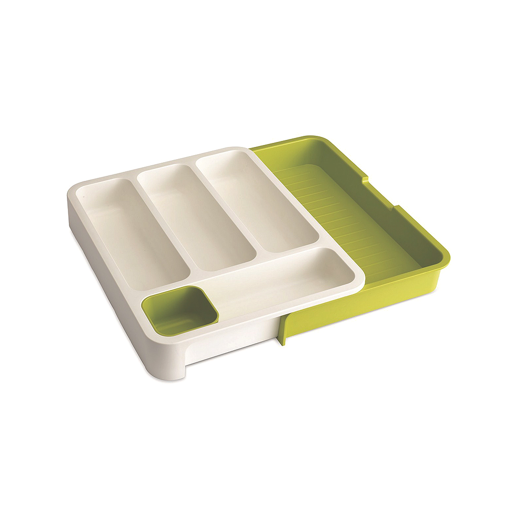 Drawer Store, Expandable cutlery tray, White