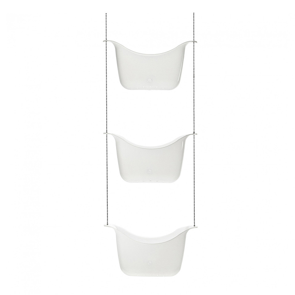 Bask Shower Caddy, White/Nkl