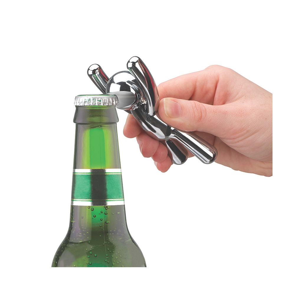 Drinking buddy Bottle Opener-Chrome
