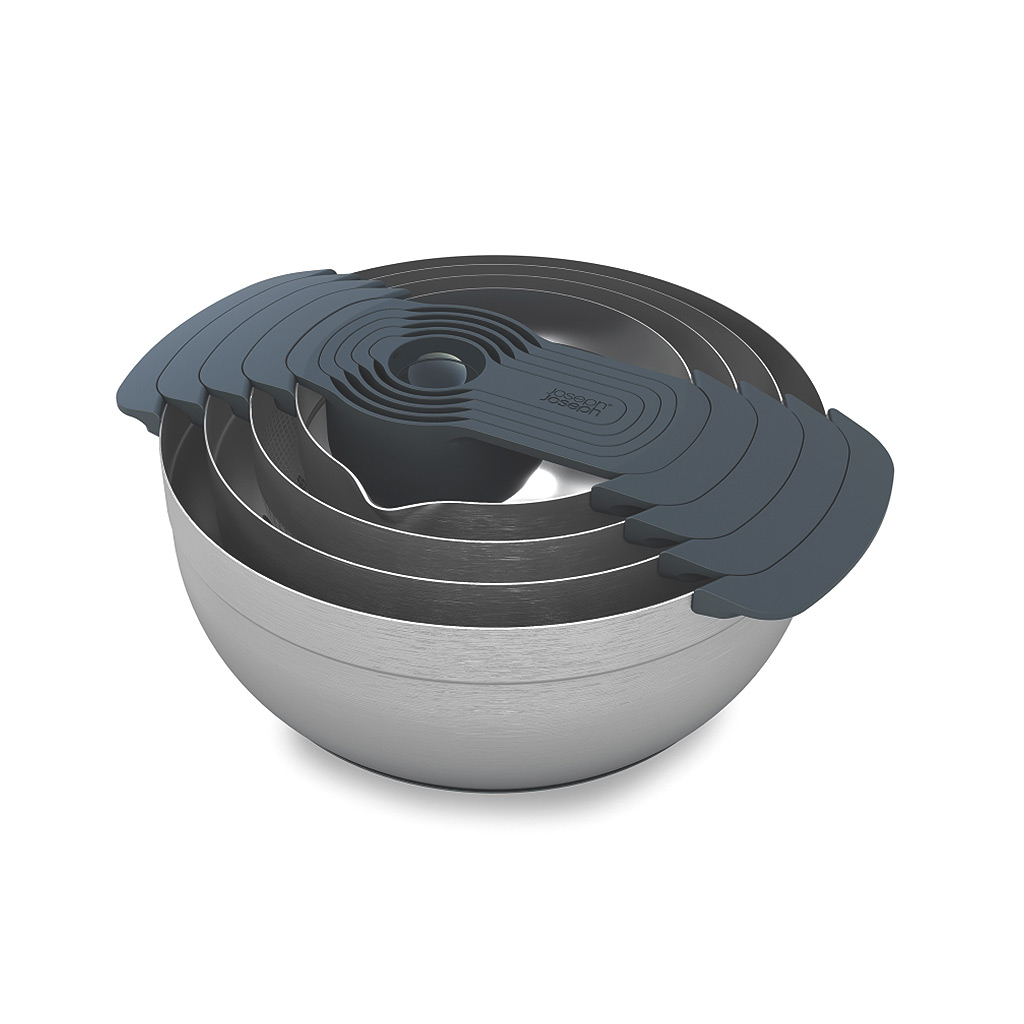 Nest 100 9-piece, stainless steel nesting bowl set