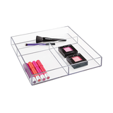 Clarity Drawer Organizer, Clear, 12x12x2""