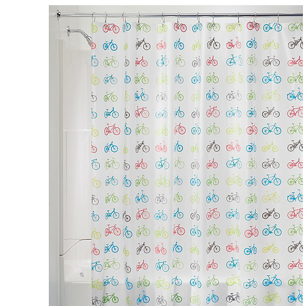 Bikes PEVA Shower Curtain