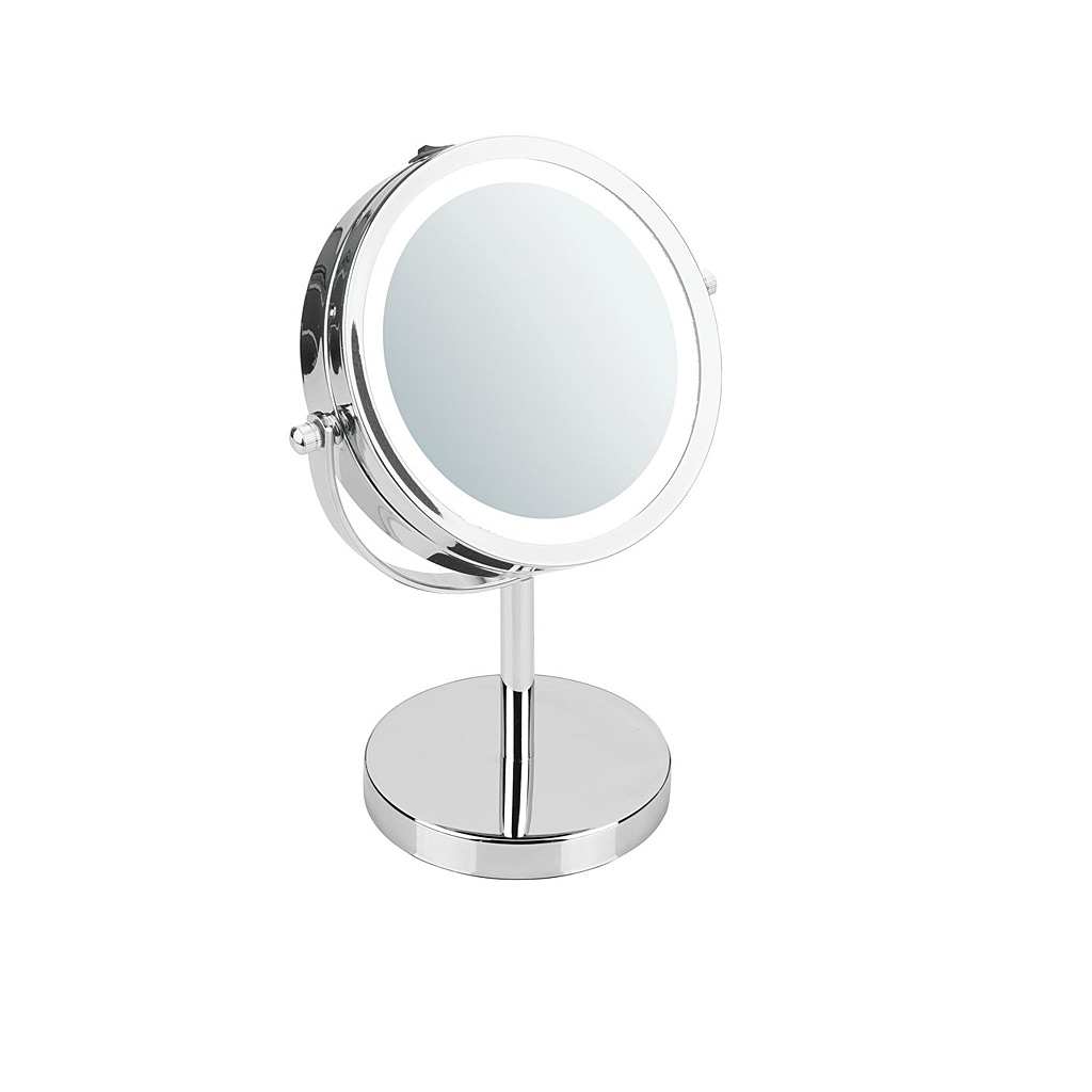 "Lighted Vanity Mirror, Chrome 7.17"" X 4.72"" X 9.84"""