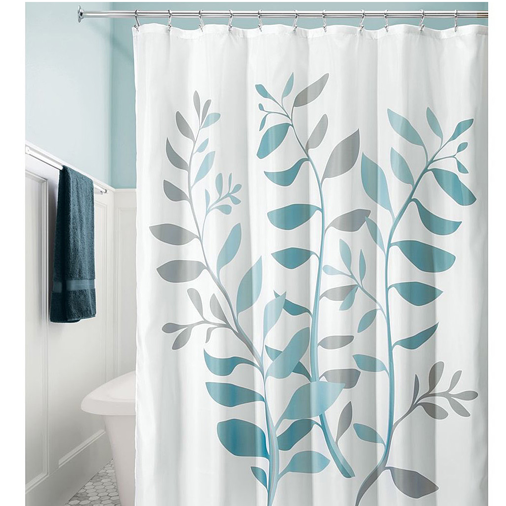 Laurel Shower Curtain, Grey/Blue
