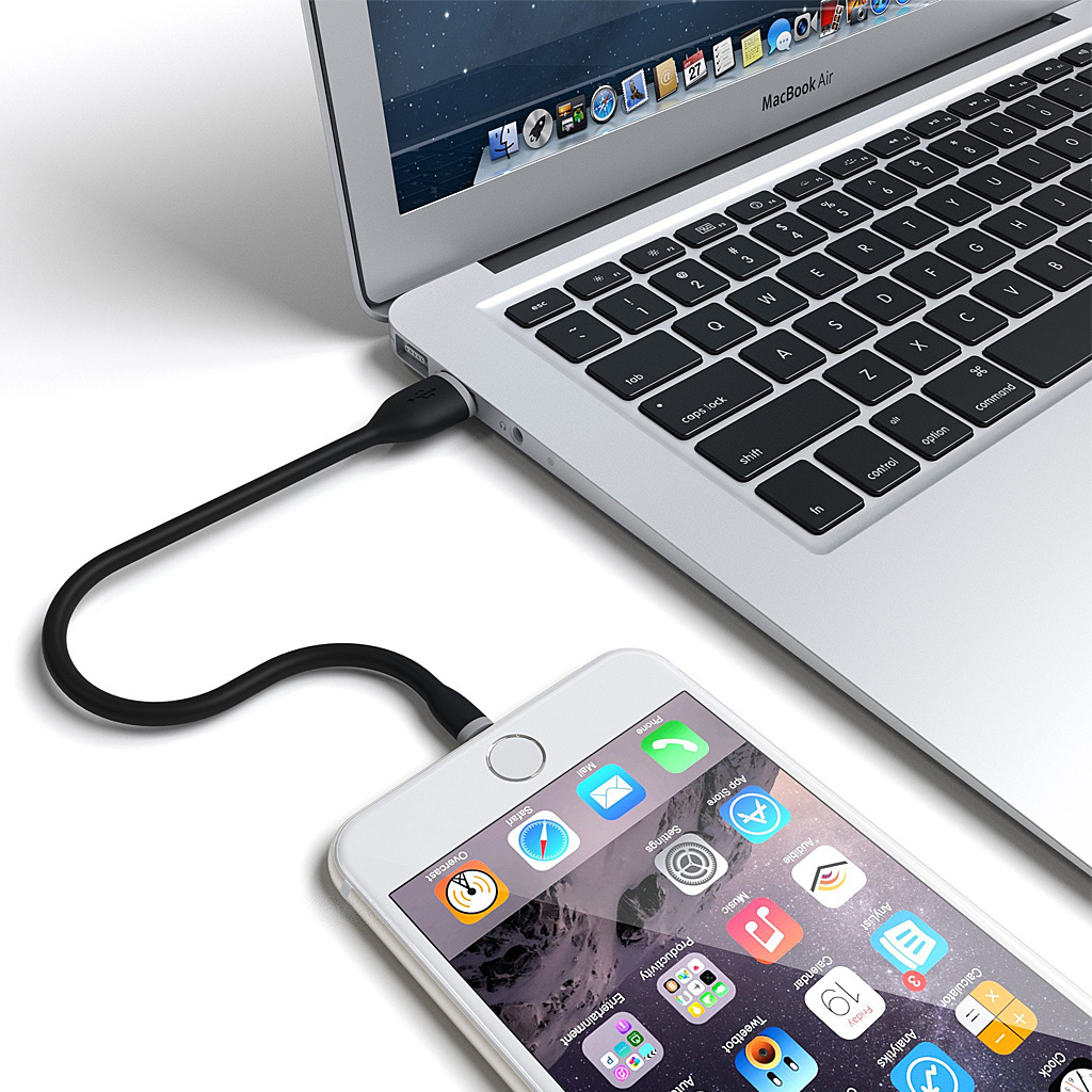 "SATECHI 6"" Flexible Lightning Cable-Black"