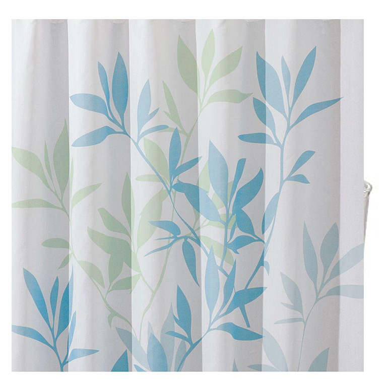 Leaves Shower Curtain, Soft Blue/Green