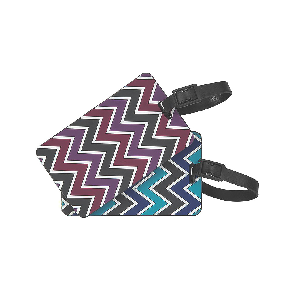 Set of 2 Luggage Tags, Chevron, Asst.