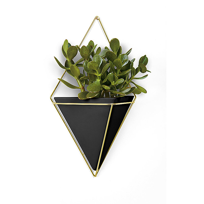 Trigg Wall Lg. Black/Brass