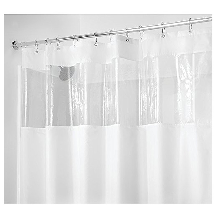 Poly View Shower Curtain White Clear Type A Home Solutions