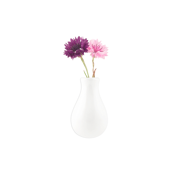 Magnetic Ceramic Vase, White