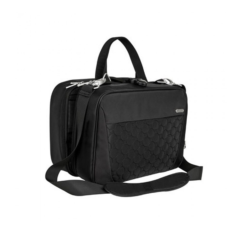 Three Compartment Hanging Toiletry Kit, Black