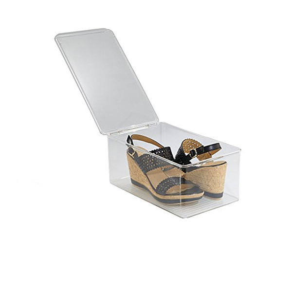 Closet Shoe Box-Wedge Pumps Clear