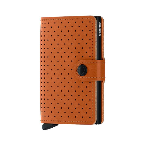 Miniwallet Perforated, Cognac