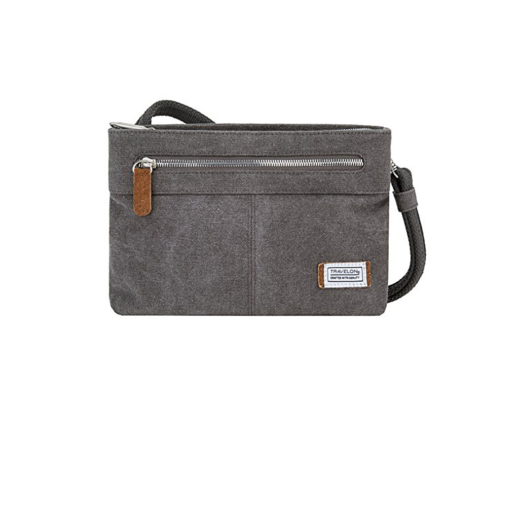 Anti-Theft Heritage Small Crossbody Bag, Pewter