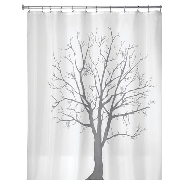 Tree Shower Curtain, Charcoal