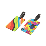 Set of 2 Luggage Tags, Puzzles & Swirls, Asst