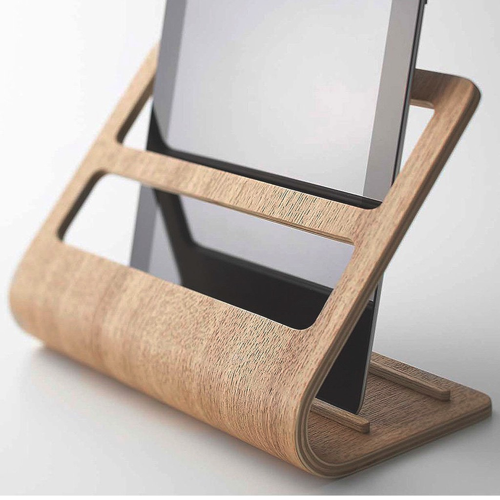 RIN-Plywood Tablet & Remote Control Rack