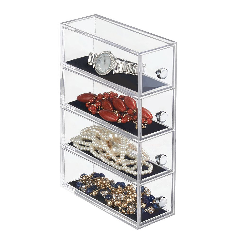 Drawers Jewelry Tower—4 Drawer Flip