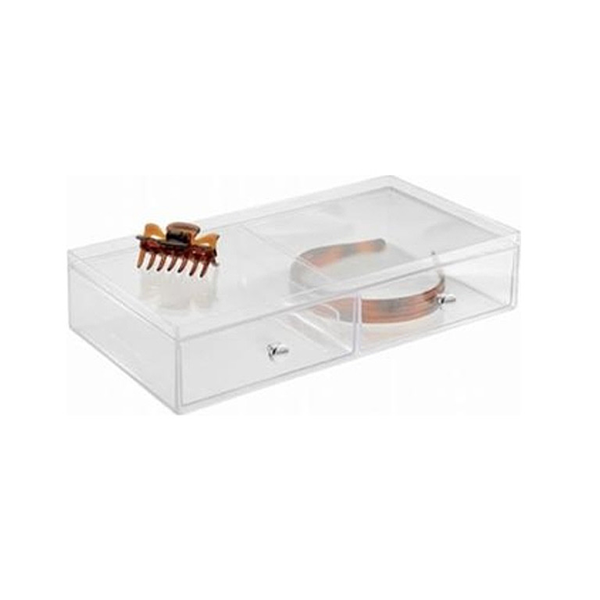 Vanity Organizer Drawers, 2 Drawer, Clear