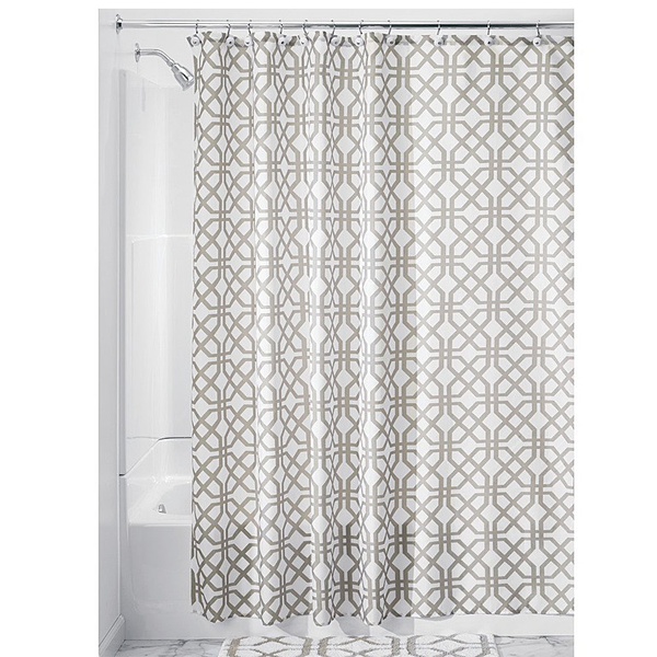 Trellis Shower Curtain, Stone