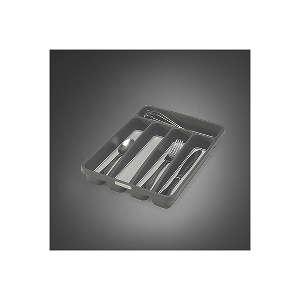 Mini 5 Compartment Silverware Tray, Granite