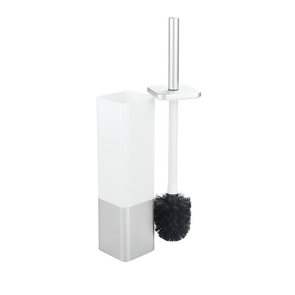 Metro Aluminum Bowl Brush, Square, Silver/White
