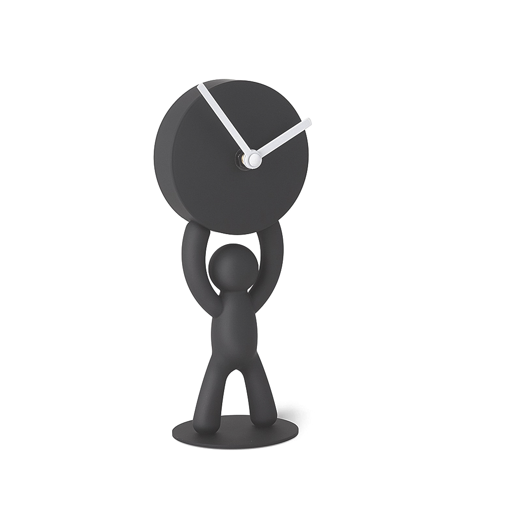 Buddy Desk Clock-Black