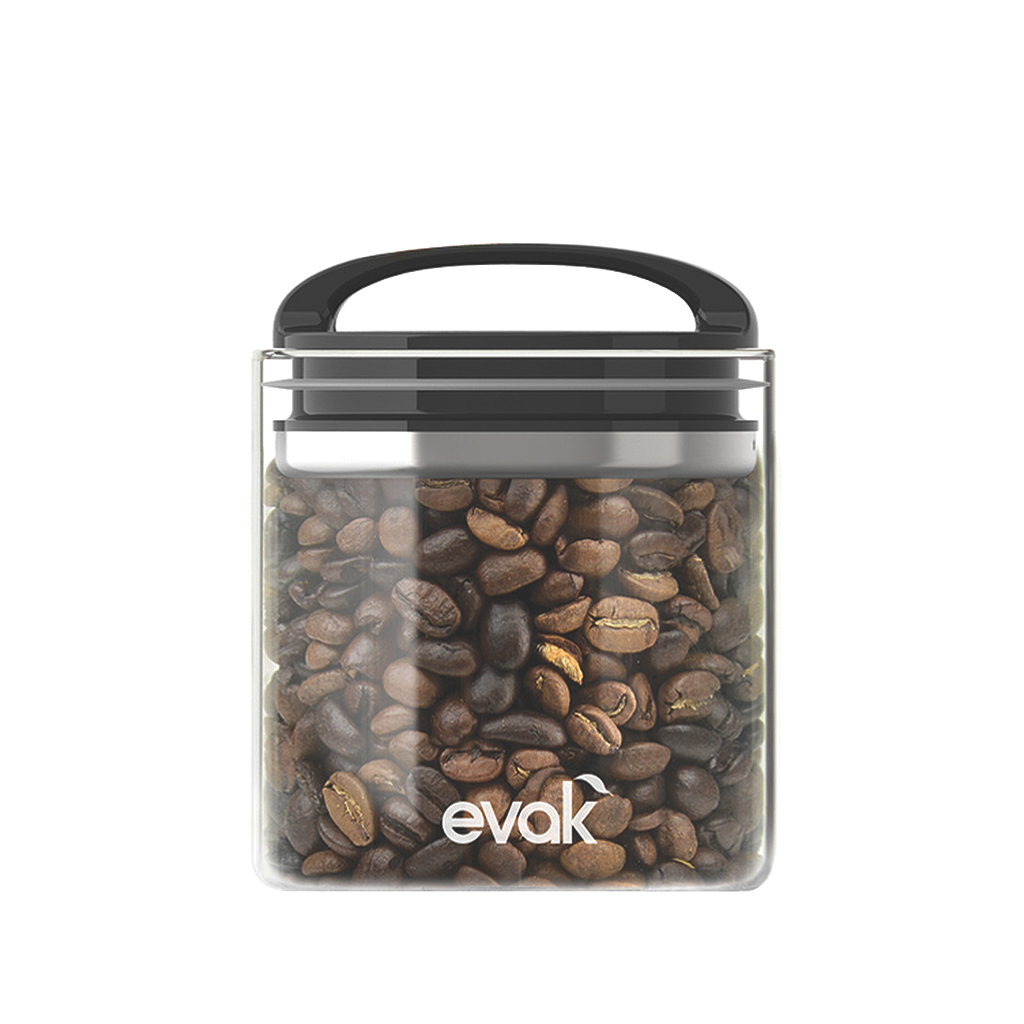 Evak  Compact Storage Container Small, Black