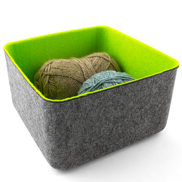 FELT·LIKE·IT!™ Storage Bins, Spr Green