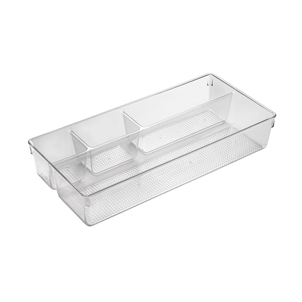 Clarity Divided Tray, Clear