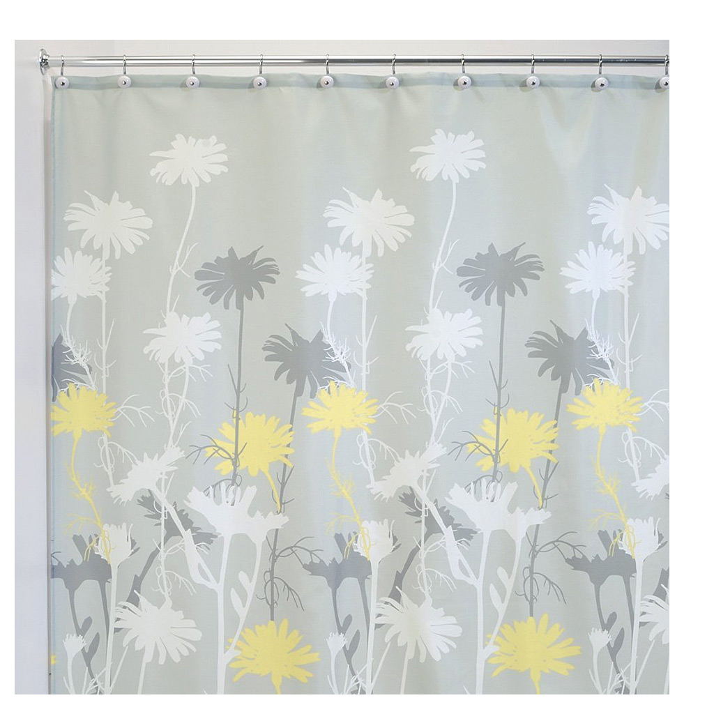 Daizy Shower Curtain, Grey/Yellow
