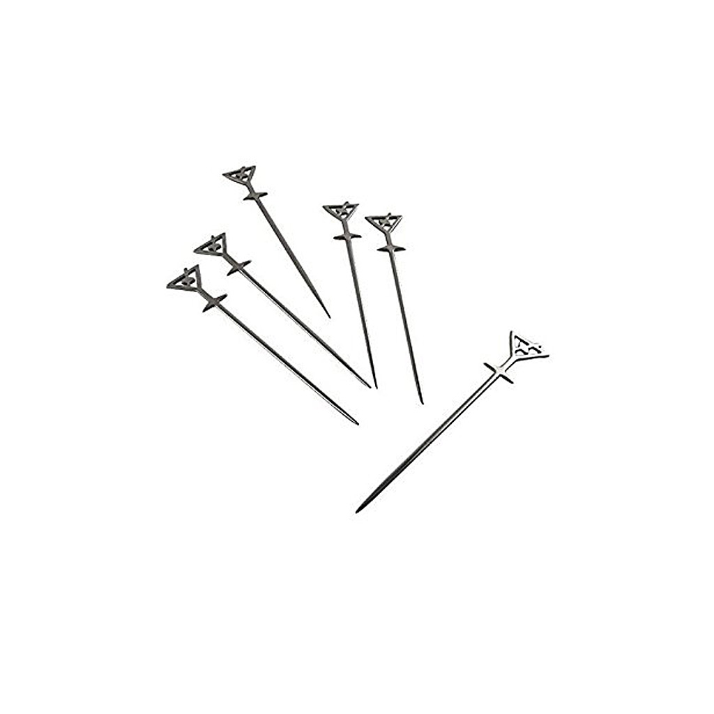 Martini Glass Picks (Set of 6),Stainless Steel