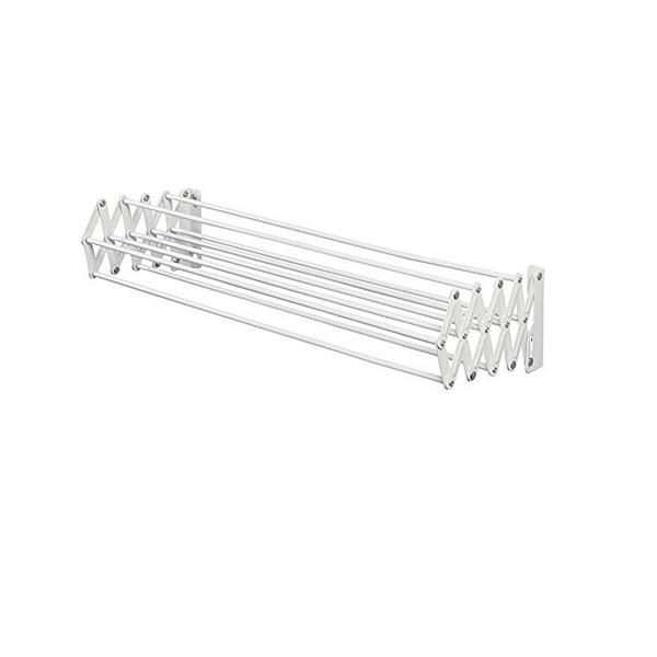 Brezio Wall Mount Accordion Drying Rack,White