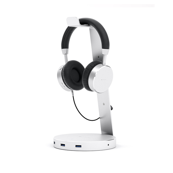 Aluminum Headphone Stand with USB ports-Space Grey