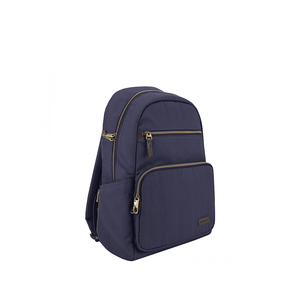 Anti-Theft Courier Slim Backpack, Navy