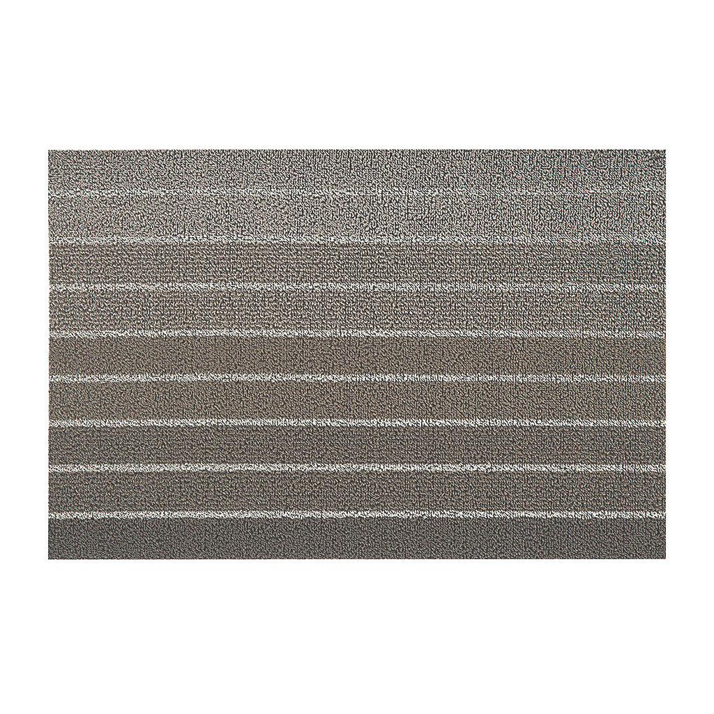Block Stripe Shag Big Mat, 36x60, Taupe