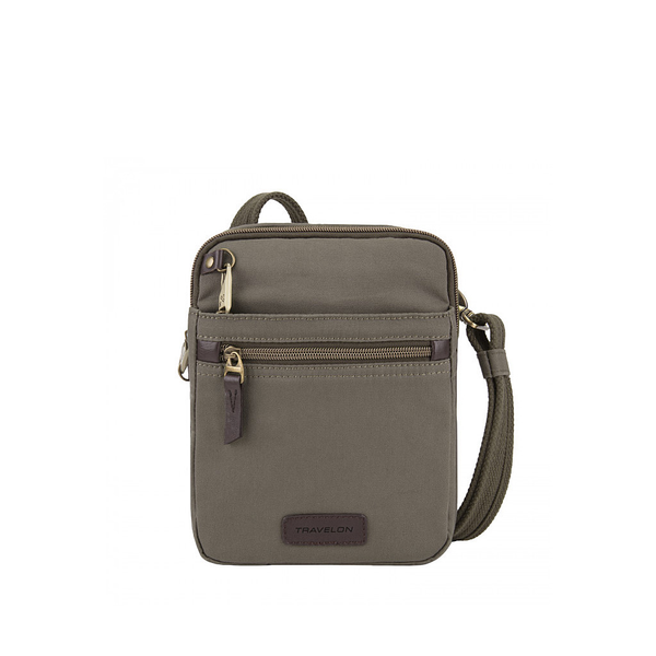 Anti-Theft Courier Small N/S Slim, Stone Grey