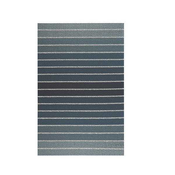 Block Stripe Shag Utility Mat, 24x36, Denim