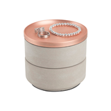 Tesora Jewelry Box, Concrete/Copper
